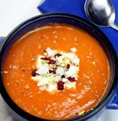 Spicy Silky Pumpkin-Sweet Potato Soup:  1 onion,  1 small leek,  1 Thai chile pepper,  1 tsp coriander, 1-3lb sweet pumpkin, 2-3 yams, 2C coconut milk, 2 C stock, fish sauce
