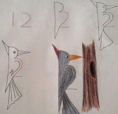 dibujo, de 12 a pájaro loco