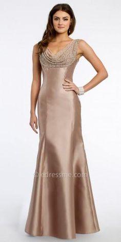Cowl Beaded Evening Dress by Camille La Vie   #dress #dresses #fashion #designer #camillelavie #edressme
