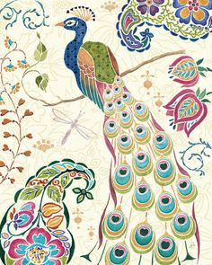 Peacock Fantasy III Prints by Daphne Brissonnet at AllPosters.com  From allposters.com