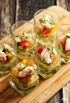 Shrimp and Guacamole Appetizers
