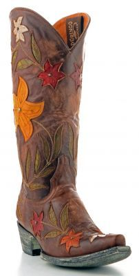 PERFECT Cowboy Boot for a Summer Sundress  Womens Old Gringo Ginger Boots Brass #L1114-1 via @Allens Boots
