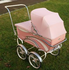 Pink fifties pram, French model.