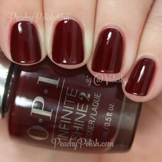 Raisin the Bar Opi Nail Polish Colors, Opi Polish, Burgundy Nail Polish, Deep Red Nails, Nail Polish 2016, Opi Dark Red, Nail Polishes, Dark Gel Nails, Oxblood Nails
