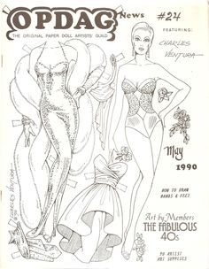 CHARLES VENTURA Paper Dolls OPDAG  May 1990 Newsletter #24 <<>> 1 of 2
