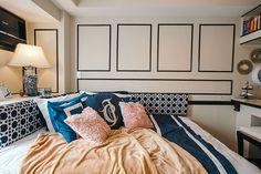 A Studio Unit with Traditional and Contemporary Touches Condo Interior Design, Small Apartment Interior, Small Apartment Design, Condo Design, Small Apartments, Micro Apartment, Small Rooms, Small Spaces, Condominium Interior