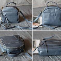 fb05aaebd984 Handmade Genuine Leather Satchel Bag Handbag Shoulder Crossbody Bag Purse  Clutch For Women