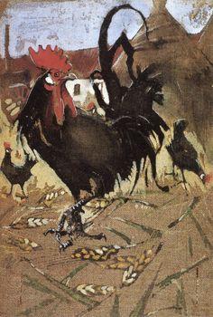 Black Spanish Cock by JOSEPH CRAWHALL, R.S.W. (1861 - 1913)