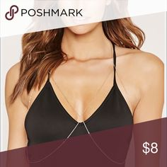 Forever 21 High Shine BodyChain Never worn, only tried on. Perfect to wear under your bikini to the pool. Threw away original packaging. In gold color. Forever 21 Jewelry