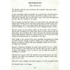 Essay about desiderata poem