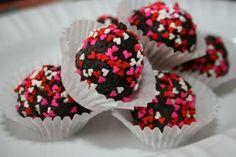 valentines- chocolate cake truffles