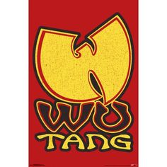 Wu-tang Clan - Red Poster, Size: inch x 34 inch Arte Hip Hop, Hip Hop Art, Wu Tang Tattoo, Wu Tang Clan Logo, Art Reference Poses, Graffiti Art, Small Tattoos, Girl Tattoos, Wutang