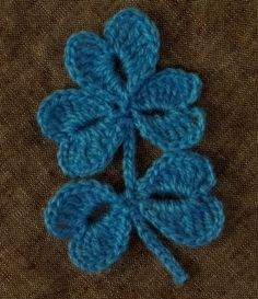 Crochet leaves - Pattern ❥ 4U // hf
