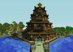 Minecraft Japanese Castle Blueprints