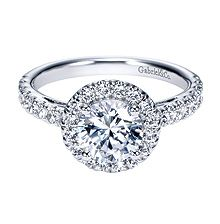 beautiful 14kt white gold engagement ring