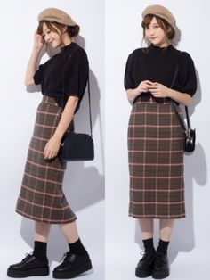 pencil skirt and tshirt outfit Long Skirt Fashion, Korean Fashion Dress, Korean Street Fashion, Korean Outfits, Japanese Fashion, Pencil Skirt Casual, Pencil Skirt Dress, Pencil Skirt Outfits, Pencil Skirts