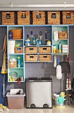 Etonnant Turn Your Utility Closet Into A Catchall Space That Neatly Stores Your  Go To Essentials
