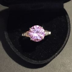 Simulated pink sapphire ring$5 off Pink simulated sapphire / new / silver Jewelry Rings