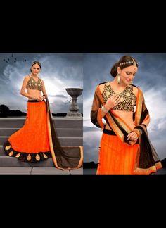 Plushy Deep Orange Lehenga Choli #lehnga #wedding #bridal #shaadi #women #bride #LehengaCholi #ethnic #wear #desiwedding #asianclothes #bollywood #indian #trendz #indiantrendz