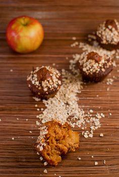 Muffins aux flocons d'avoine, pommes et caramel