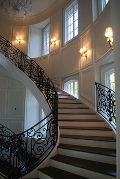 Beautiful staircase from  The Enchanted Home
