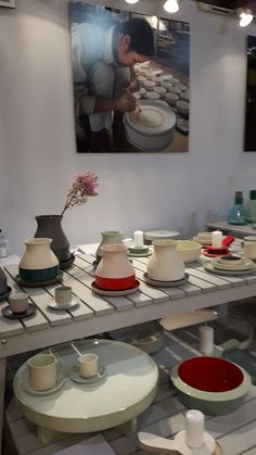 Amazing work by Dutch designer Arian Brekveld with skilled people from Vietnam for Imperfect design. Bat Trang collection with vases, cups, bowls, candle holders and tables