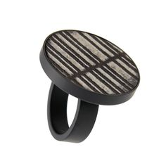 Fingerring Keramik Edelstahl pvd schwarz h kollektion