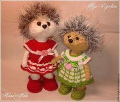 Ежули - подружки - ёжики,Ёжик,игрушка ручной работы,подарок,для детей