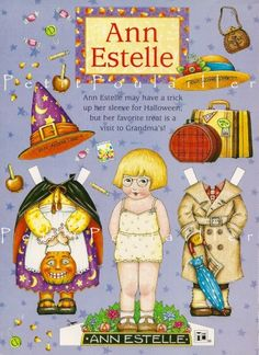 (⑅ ॣ•͈ᴗ•͈ ॣ)♡                                                             ✄Mary Engelbreit Playtime Paper Doll Sheet -Ann Estelle