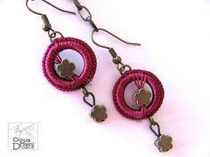 Artisan, handmade, crochet, silk, boho, bohemian, hipster, hippie, earrings, contemporary, fiber, textile, jewelry, jewellery