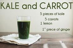 Kale and Carrot Juice // The Little Red House | Flickr - Photo Sharing!