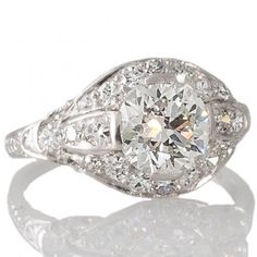 Art Deco Diamond Plaque Ring. View our range of original Art Deco engagement rings at www.rutherford.com.au