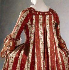 Sack-back-gown 1770-1775 detail , Berrington- Hall Herefordshire