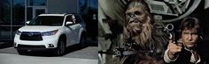 We may not have the Millennium Falcon at Toyota of N Charlotte, but we do have spectacular cars! Check out which new Toyota we've paired up with some of the Star Wars characters!  http://blog.toyotaofnorthcharlotte.com/2014/star-wars-characters-get-behind-wheel-new-toyota-n-charlotte/