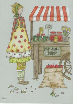 un air de printemps  Mrs Pettycoat draw dessin Faber-Castell Polychromos Prismacolor