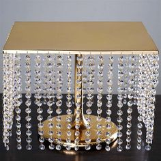 Present your Wedding Cake with elegance using our Diamond Crystal Chandelier Cake Stands. Efavormart offers wholesale prices of premium quality Metal Wedding Cake Stands. Bling Wedding Cakes, Bling Cakes, Wedding Cake Stands, Chandelier Cake Stand, Metal Chandelier, Chandelier Wedding, Floating Candles, Led Candles, Gem Cake