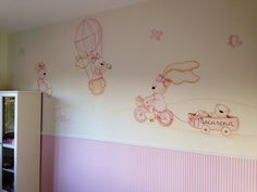 Pintura para dormitorio infantil Baby Bedroom, Girls Bedroom, Murals For Kids, Cata, Ideas Para, Decoupage, Country, Home Decor, Bedroom
