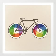Geometric Bicycle Art Print by Maps Of Imaginary Places - $12.48