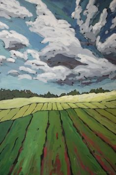 cool painting by Jennifer Woodburn Landscape Quilts, Landscape Art, Landscape Paintings, Watercolor Landscape, Art And Illustration, Illustrations, Large Painting, Painting Art, Art Moderne