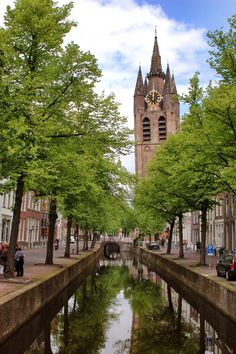 The Oude Kerk (Old Church). Find out more about Delft at: http://mikestravelguide.com/a-bit-of-delft-history/