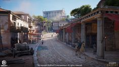 I am presenting to you my work from the City of Cyrene. My work was to do Level Art all across the city, as well part of level design on a few places. The city was a rich Greek temple city with a population being mostly the elite. In Ancient Times, Ancient Rome, Ancient Greece, Fantasy Map, Fantasy World, Temple City, Roman City, Environment Concept Art, Mansion Interior