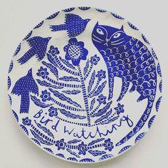 A happy customer. @Regrann from @annsorchard - Fantastic husband has bought me a splendid @vickylindo cat plate from Rye #cat #ceramics #Regrann