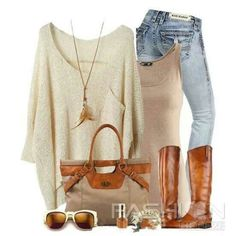 Love the bag, sweater and necklace