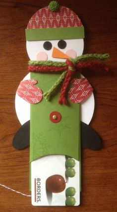Stinkin' Cute Snowman Gift Card Holder