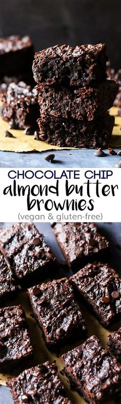 These Chocolate Chip Almond Butter Brownies taste like a decadent dessert, but…