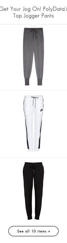 Get Your Jog On! PolyDatas Top Jogger Pants by polyvore ❤ liked on Polyvore featuring athleisure, polydata, activewear, activewear pants, pants, bottoms, sweatpants, adidas, cuff sweatpants and logo sportswear