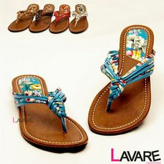 Cute sandals and flip flops and shorts for summer   Womens Flip Flops Cute Summer Braided Floral Flats Sandals Thong ...