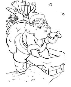 Coloring Pages and Activity Sheets - BlueBonkers: Free Printable Coloring Sheets, Math Sheets, nursery rhymes, children's stories, christmas lyrics Santa Coloring Pages, Coloring Pages To Print, Colouring Pages, Coloring Pages For Kids, Coloring Books, Mandala Coloring, Printable Coloring Sheets, Free Coloring Sheets, Christmas Colors