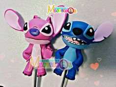 Little Stitch, Lilo And Stitch, Cute Pens, Minnie Mouse, Diy Crafts, Disney Characters, Biscuit, Painting, Diy And Crafts