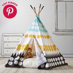 Teepee to Call Your Own (Multi-Dot) - The Land of Nod - $159 - domino.com